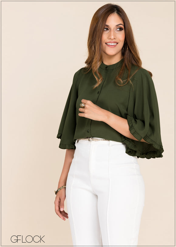 Frill Detailed Top - GFLOCK.LK