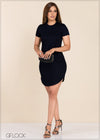 Curved Hem Dress - GFLOCK.LK