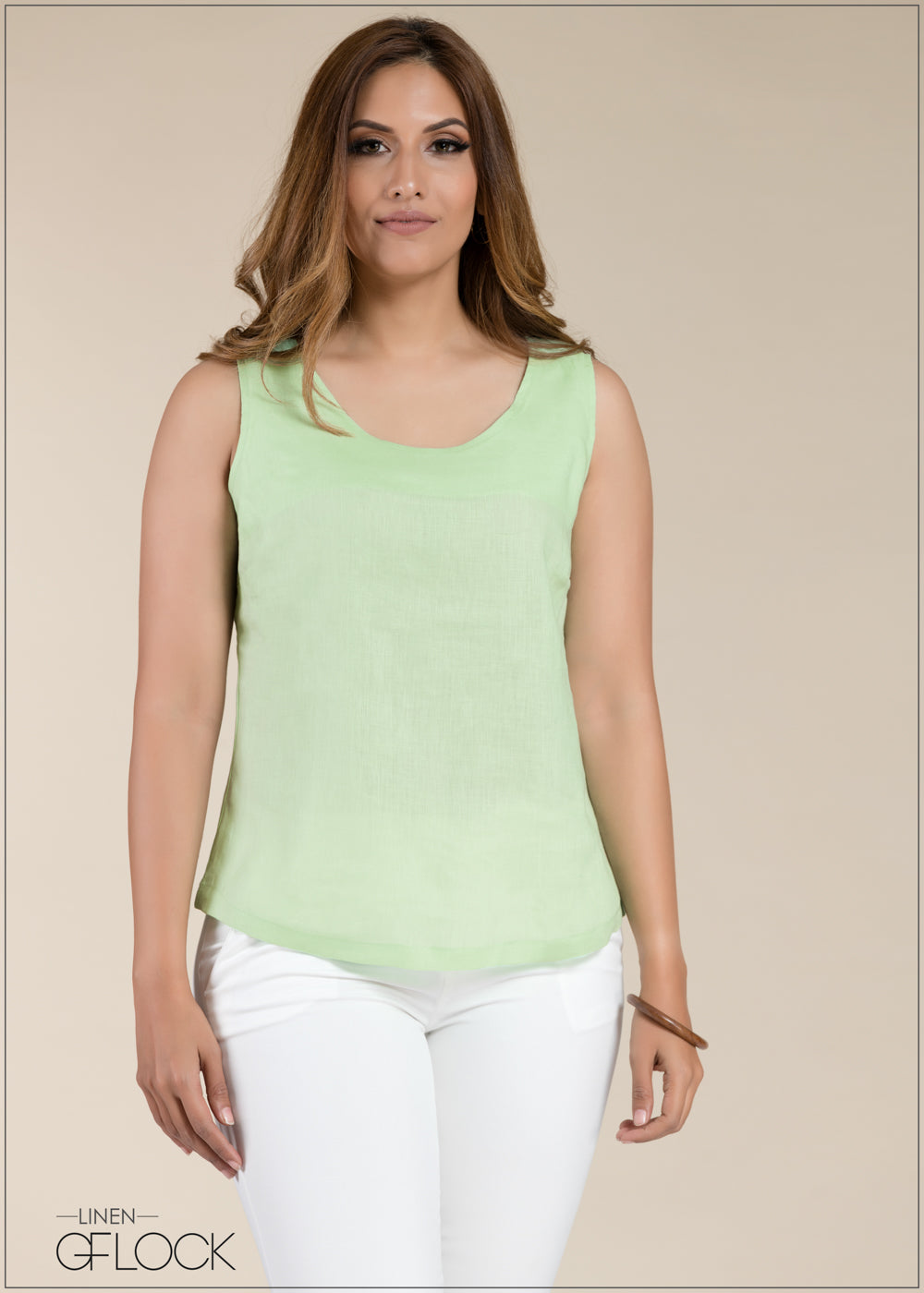 Sleeveless Linen Top