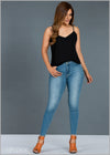 Light Washed High Rise Jean