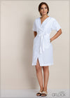 Double Buttoned Linen Dress