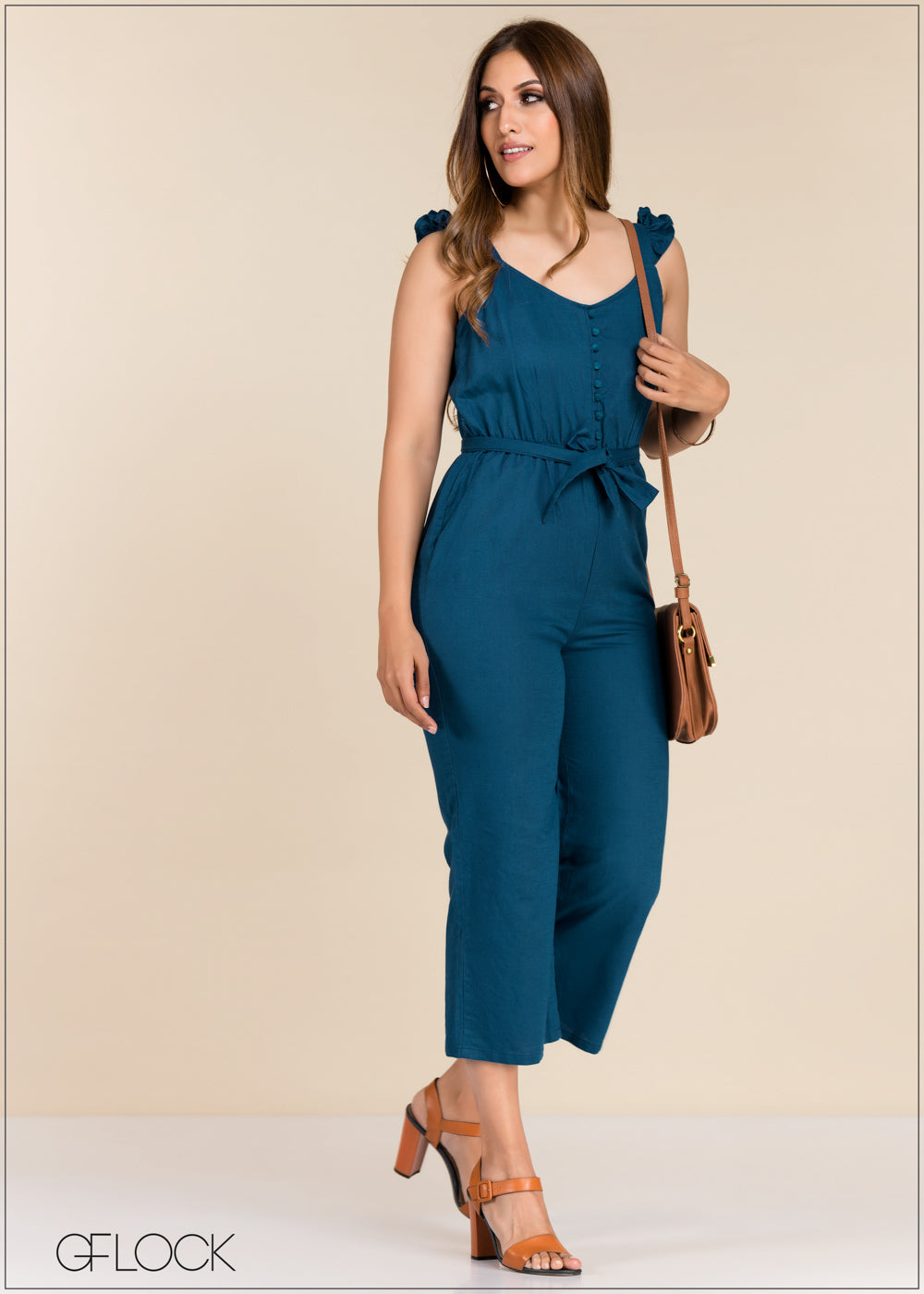 Jumpsuit With Waist Tie - GFLOCK.LK