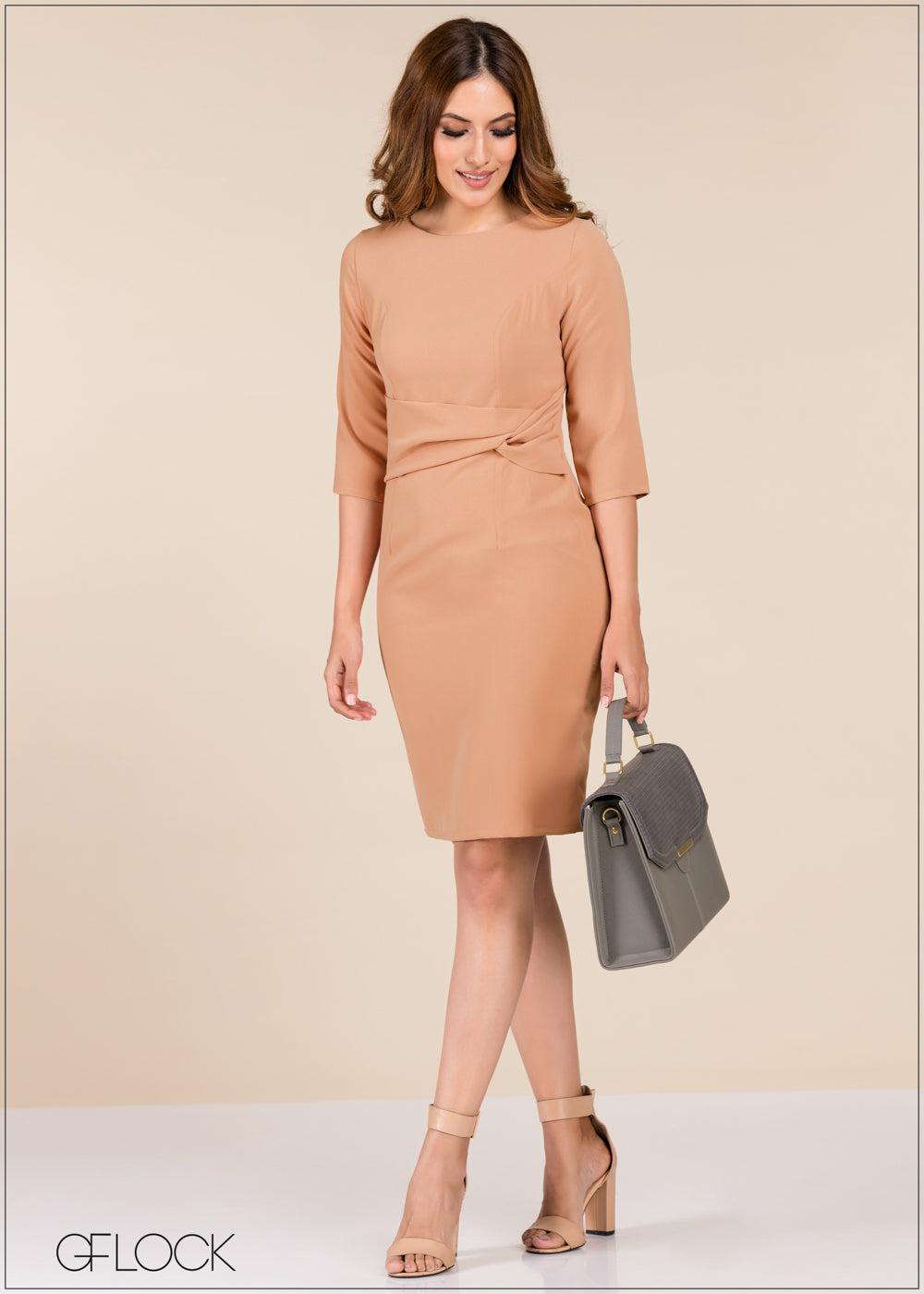 Dress With Waist Drape - GFLOCK.LK
