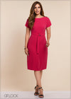 Belted Straight Cut Dress - GFLOCK.LK