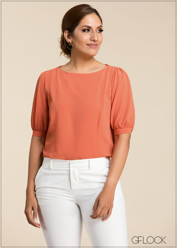 Puff Sleeve Top - GFLOCK.LK
