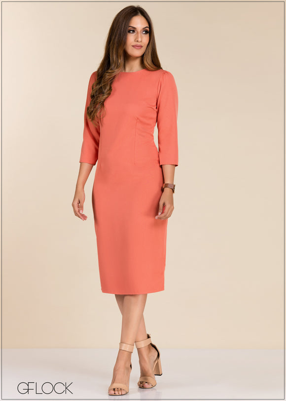 Puff Sleeve Bodycon Dress - GFLOCK.LK