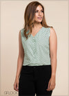 Geo Printed Sleeveless Top - GFLOCK.LK
