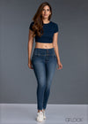 Mid Blue High Waist Jean - GFLOCK.LK