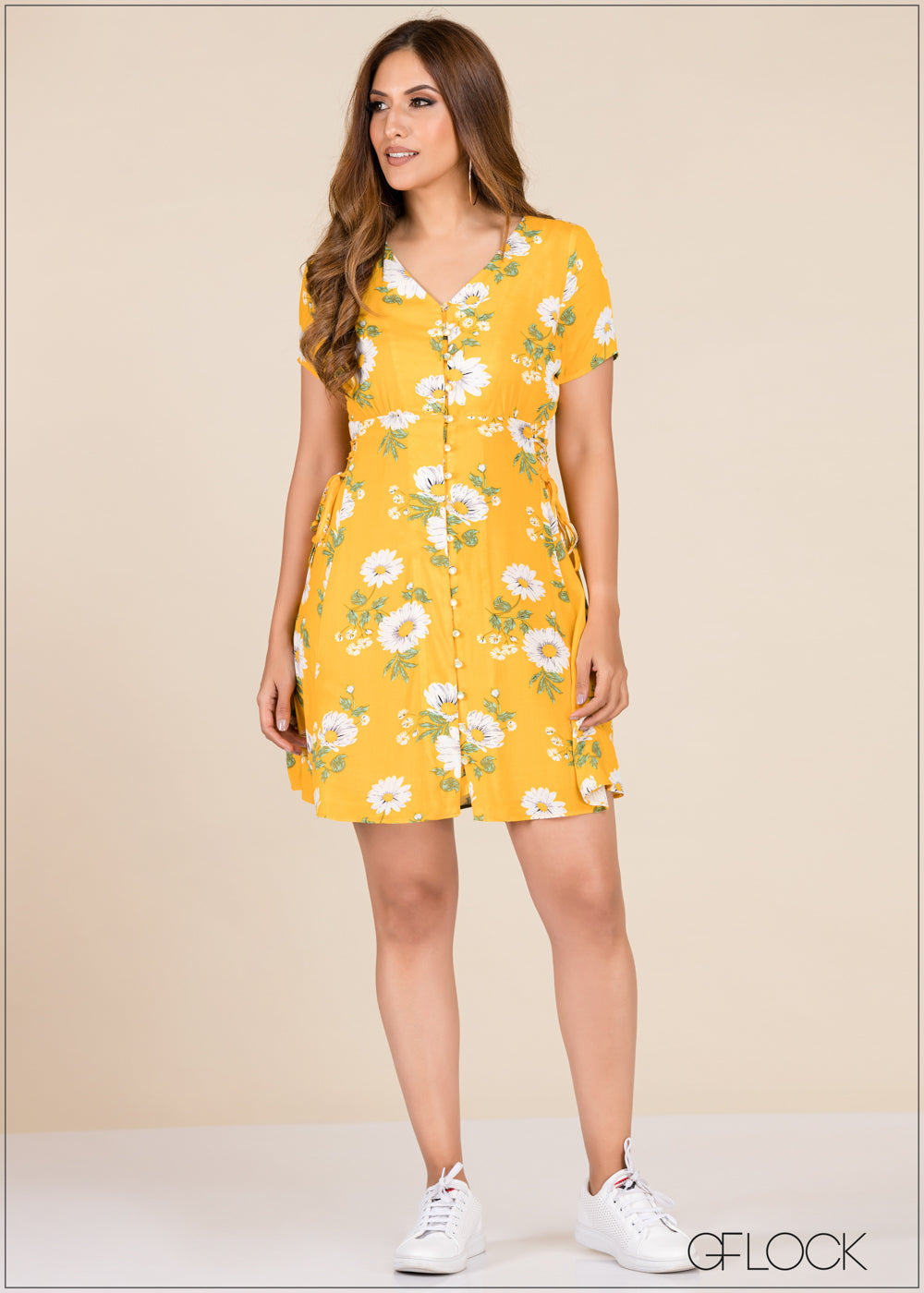 Floral Printed Dress - GFLOCK.LK