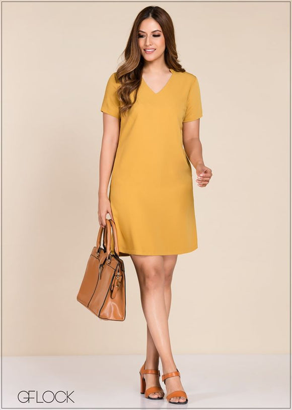 Flared Shift Dress - GFLOCK.LK