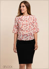 Printed Boat Neck Top - GFLOCK.LK