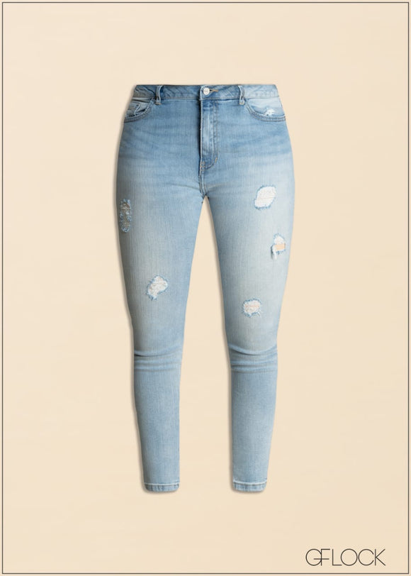 Light Skinny Ragged Jean