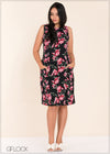 Sleeveless Printed Dress - GFLOCK.LK