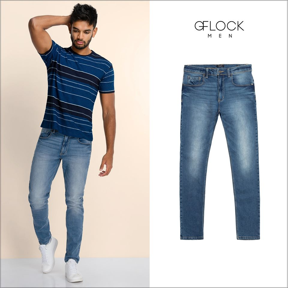 Light Washed Slim Fit Jean - GFLOCK.LK