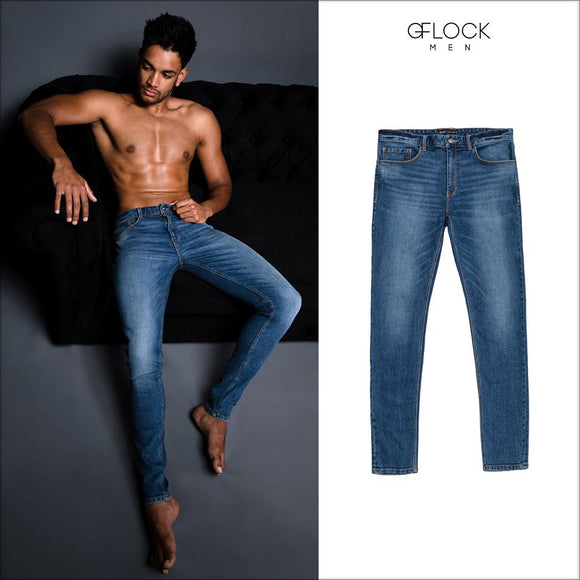 Mid Washed Slim Fit Jean - GFLOCK.LK