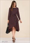 Long Sleeve Printed Dress - GFLOCK.LK