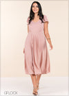 High Low Flared Sleeve Dress - GFLOCK.LK