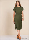 Knit Midi Dress - GFLOCK.LK