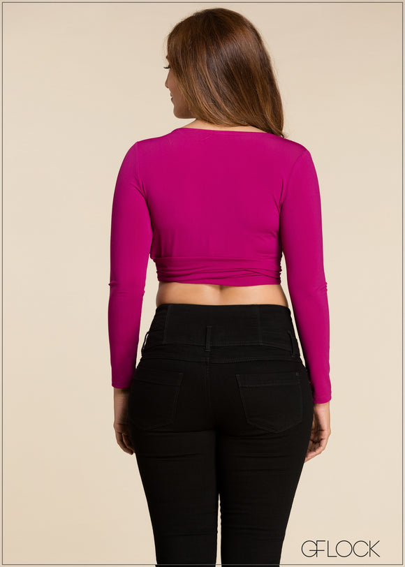 Side Gathered Crop Top