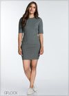 Short Sleeve Bodycon Dress - GFLOCK.LK