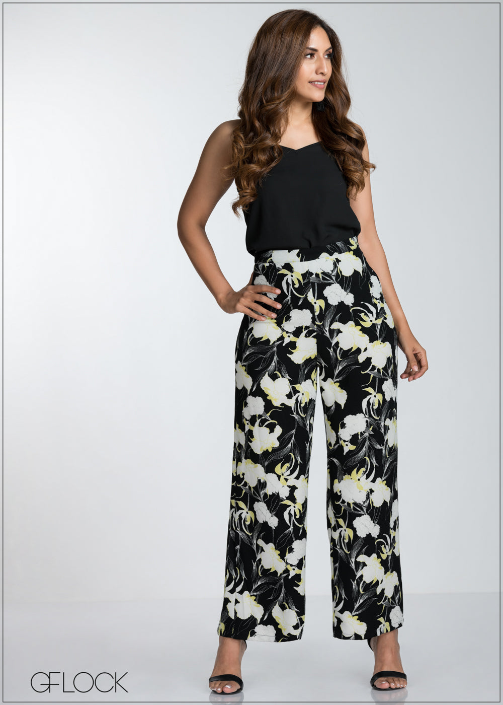 Printed Flared Pant - GFLOCK.LK