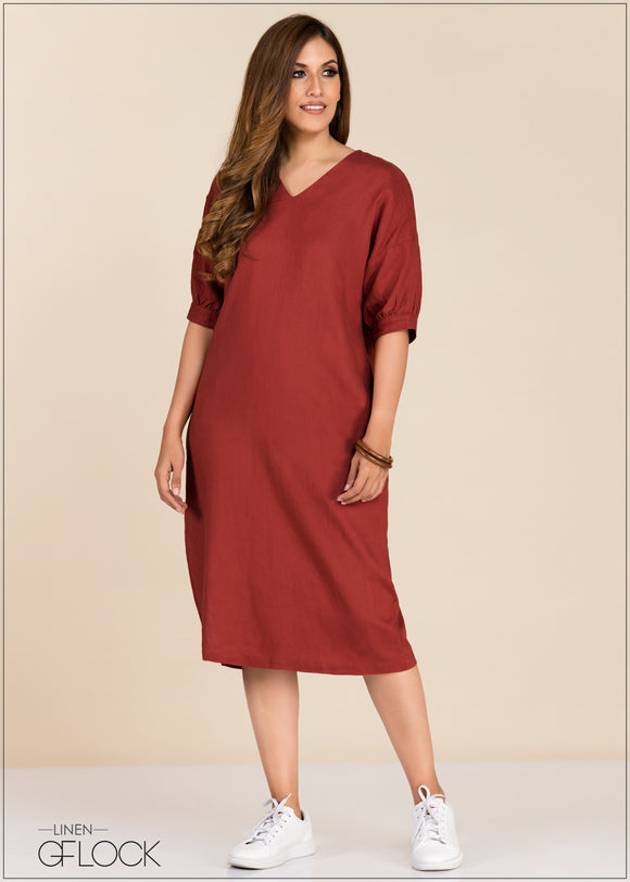 Dress With Oversized Sleeves
