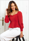 Ruffled Hem Top