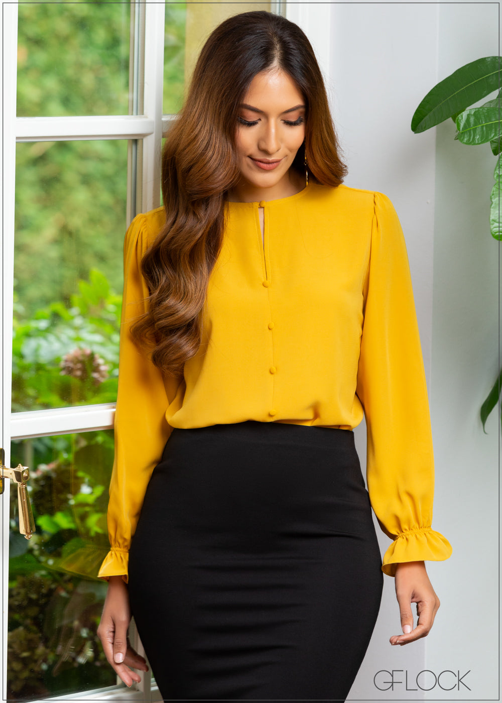 Top With Button Details