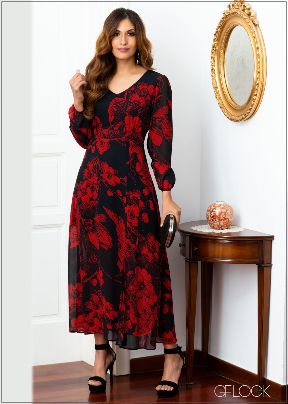 Front Slit Long Sleeve Maxi - Evening 2011