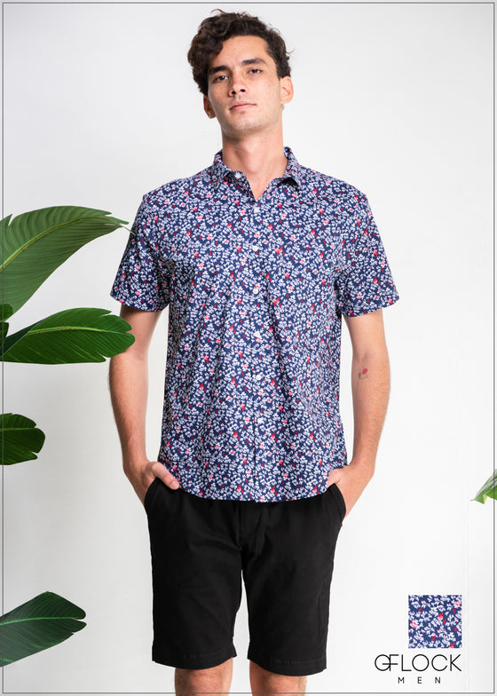 Printed Short Sleeve Shirt - 403