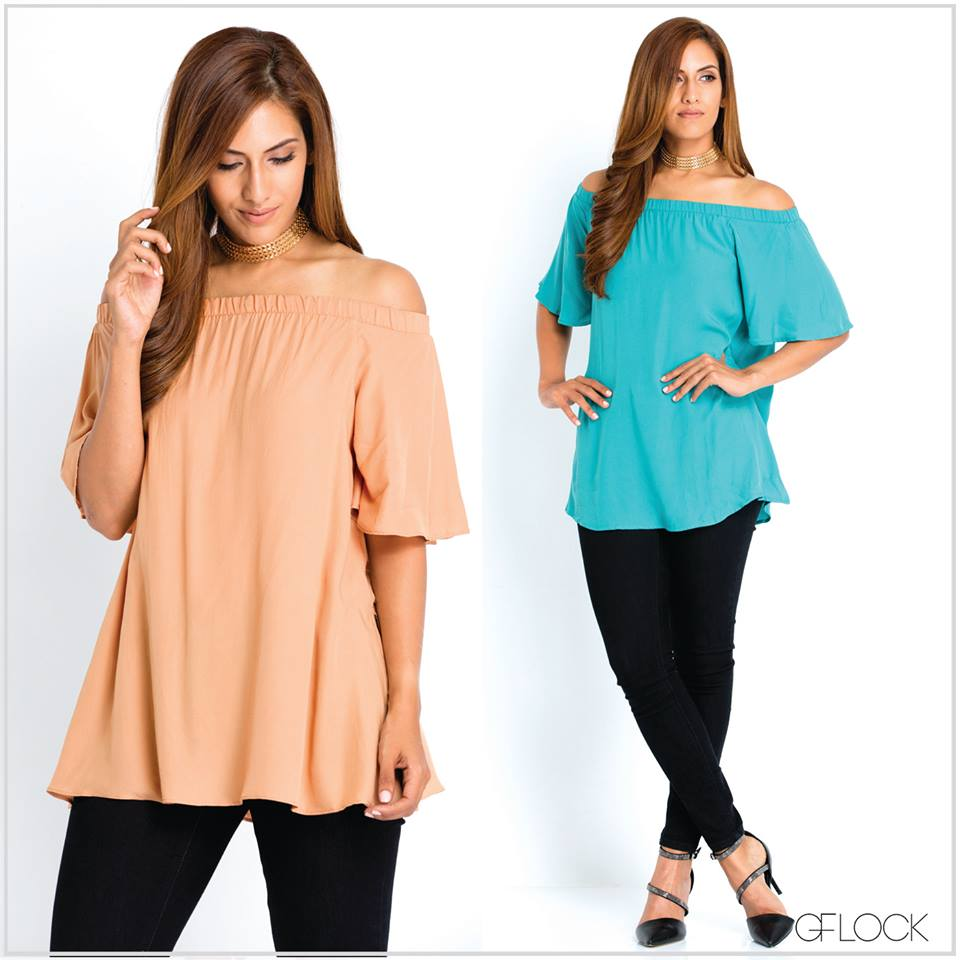Flair Sleeve Off Shoulder Top
