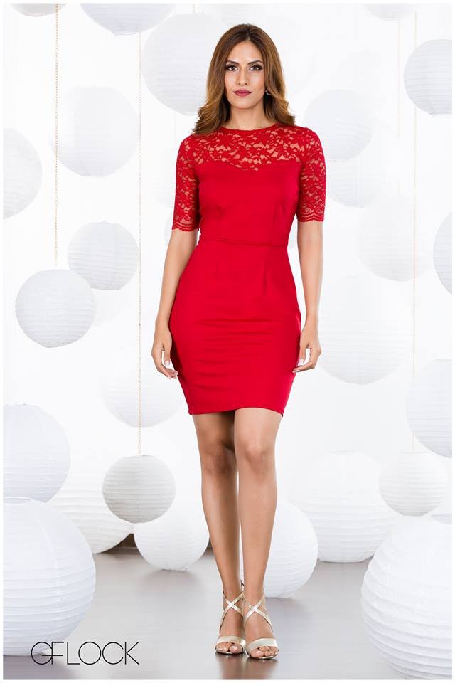 Floral Lace Body-Con Dress
