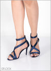 Criss Cross Satin Heel