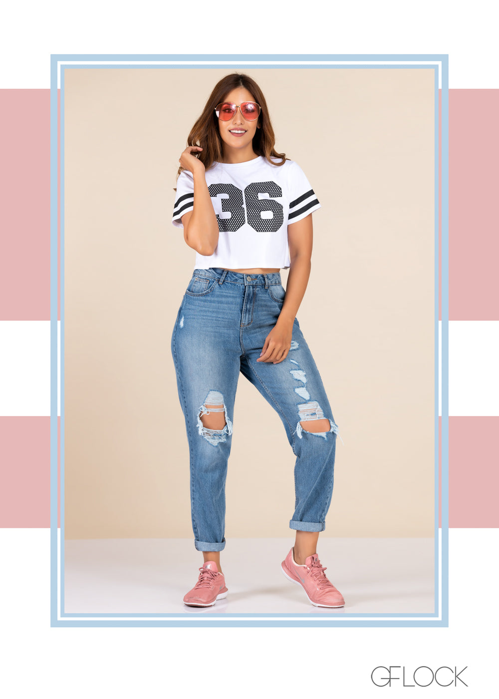 Varsity Striped Top - GFLOCK.LK