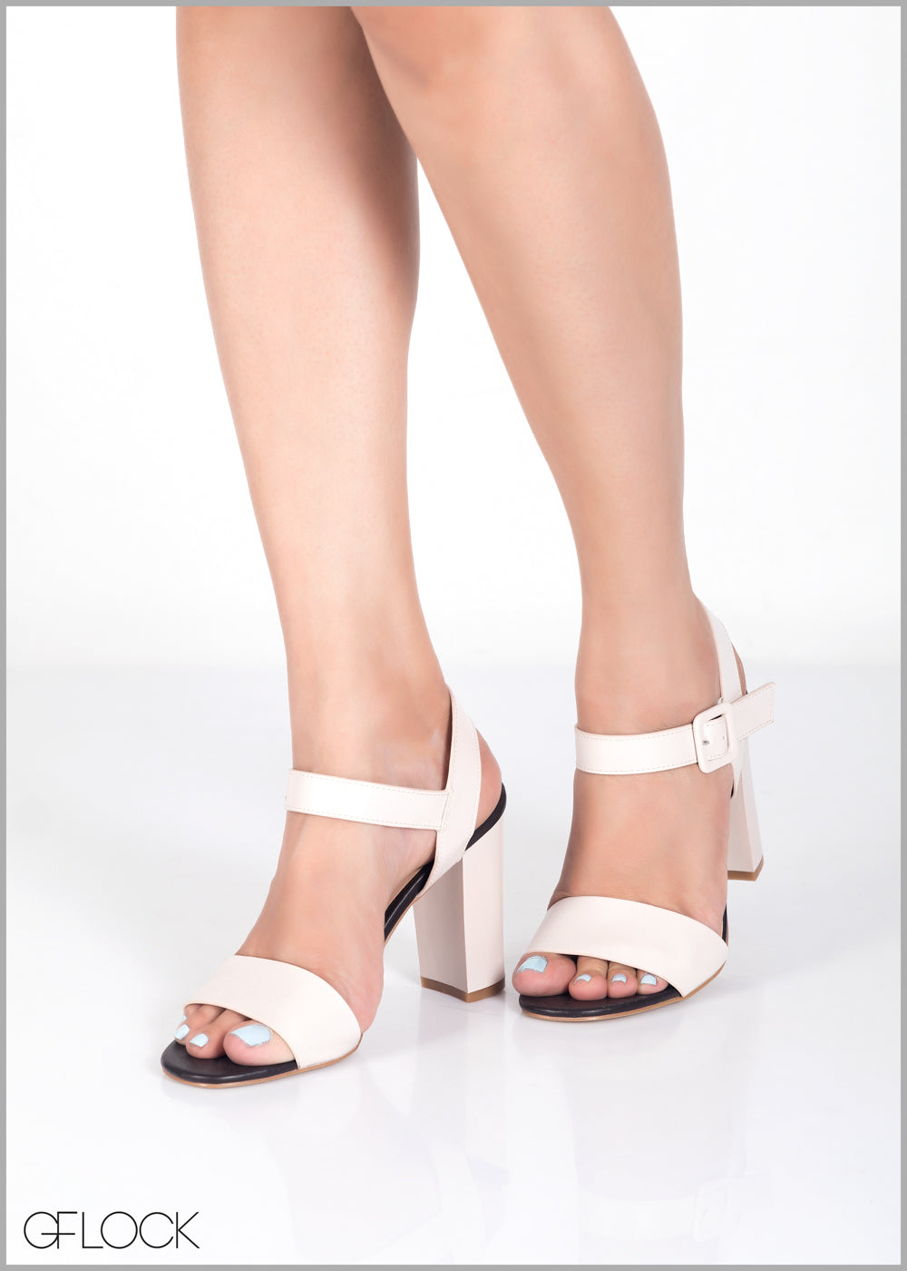 Chunky Buckled Block Heel