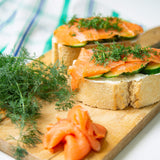 Plantui Dill Herb Recipe Toast Salmon