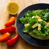 Plantui Kale Curled Green Salad Recipe Lemon Cheddar