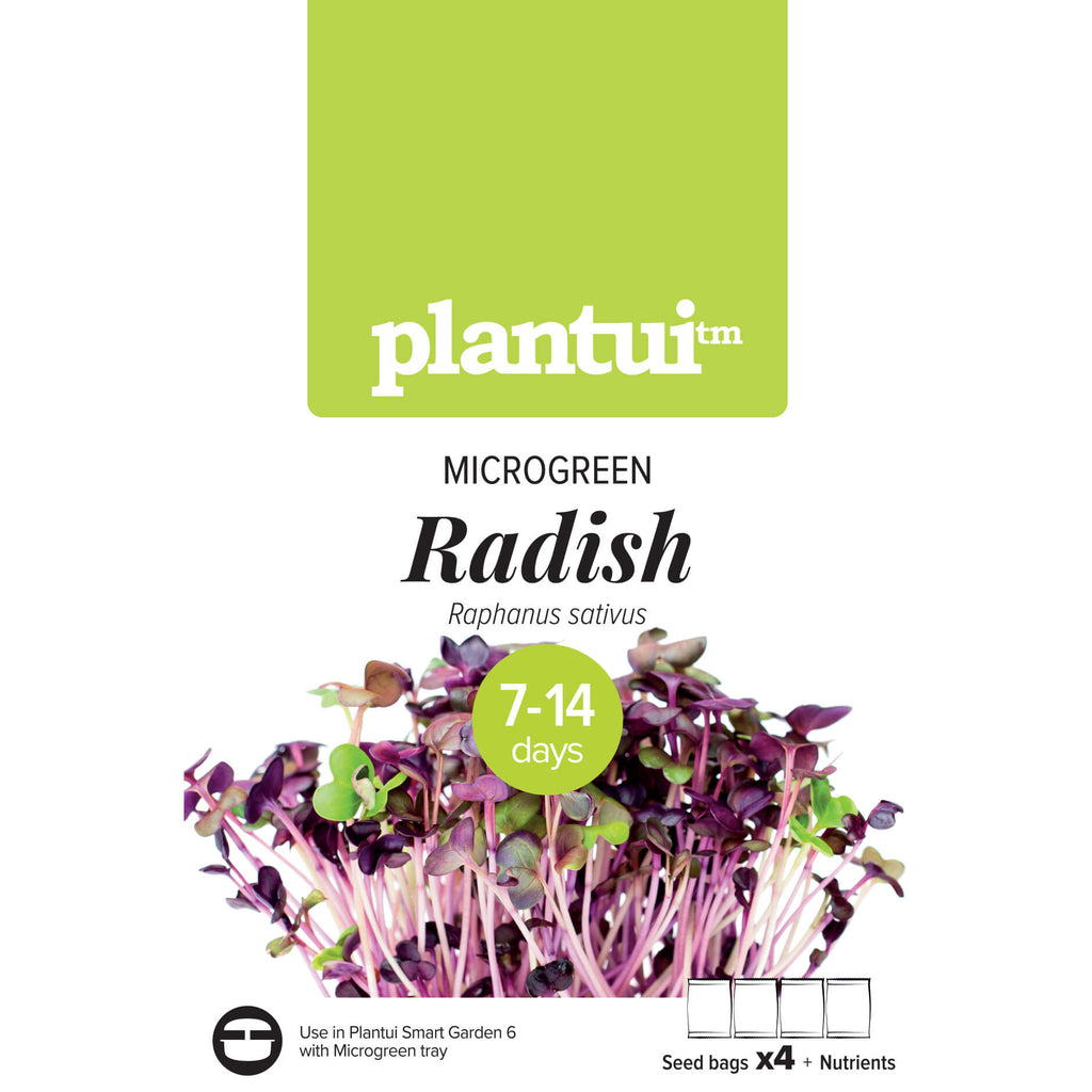 Plantui MICROGREEN Radish Packaging