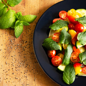 Plantui Mint Herb Recipe Tomatoes Cucumber Salad