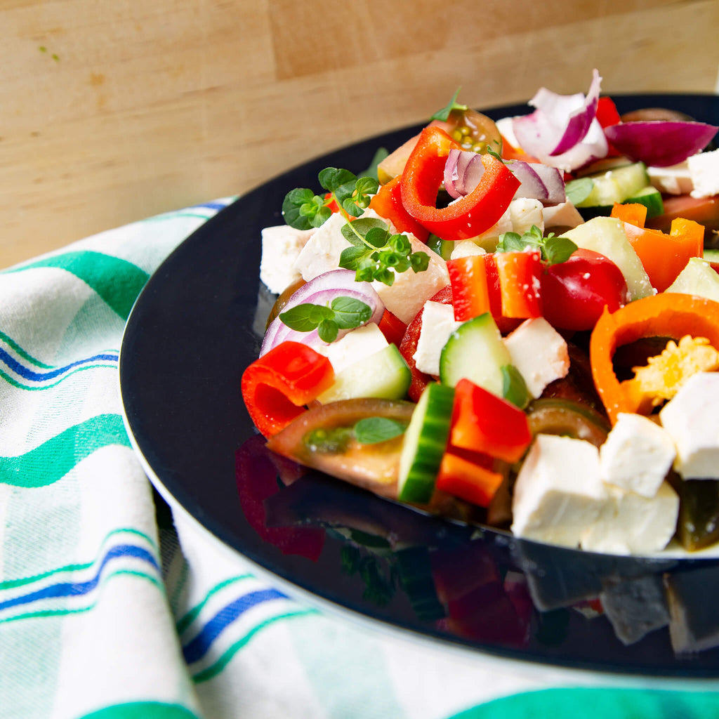 Plantui Oregano Herb Recipe Feta Salad