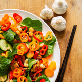 Plantui Pok Choy Salad Recipe Carrot Cucumber Pepper Nuts