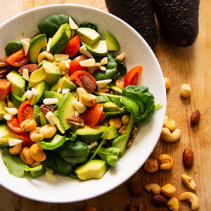Plantui Tatsoi Salad Recipe Avocado Tomato Nuts
