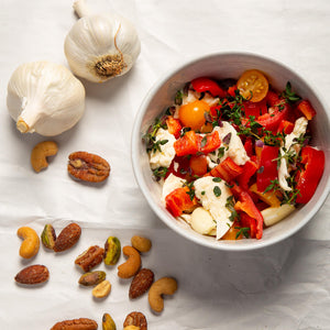 Plantui Thyme Herb Recipe Mozzarella Pepper Tomato Salad