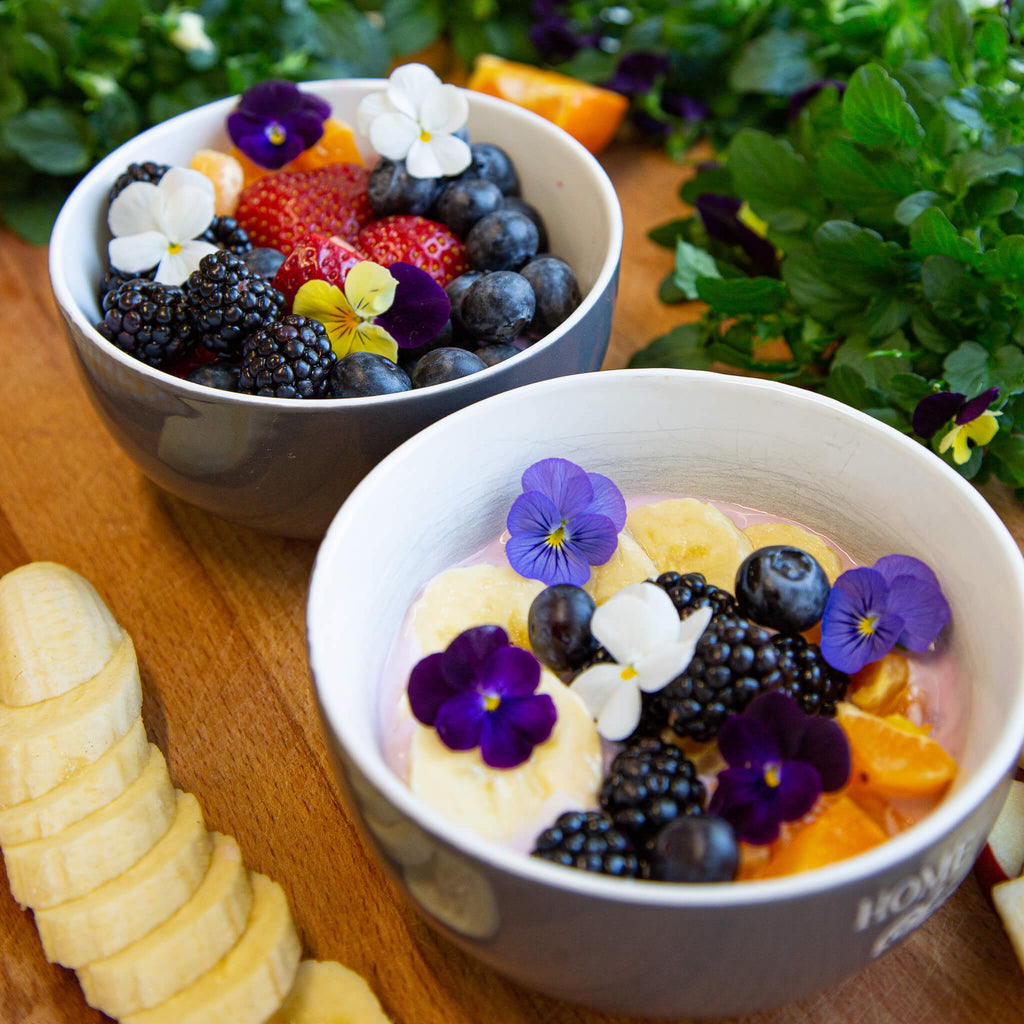 Plantui Viola Flower Recipe Breakfast Berries