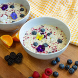 Plantui Viola Flower Recipe Breakfast Porridge