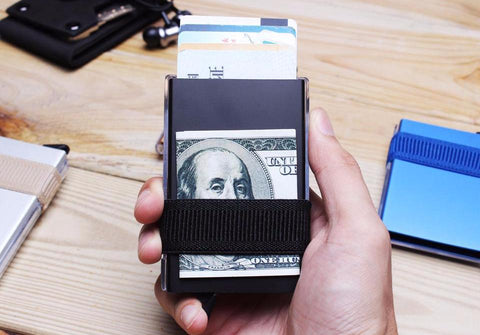 Rfid Blocking Slim Wallet with Coin Box