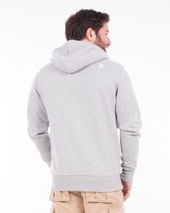 Applique Arm Zip Hoody