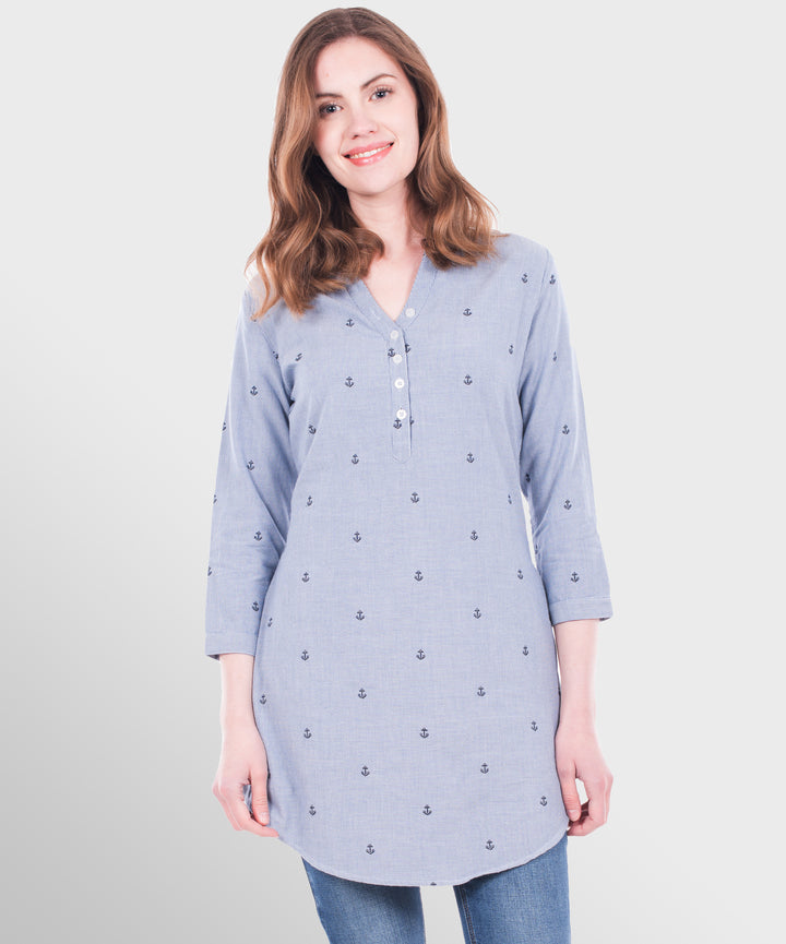 TRADER Anchor Dobby Shirt Dress