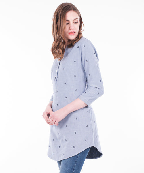 Anchor Dobby Shirt Dress