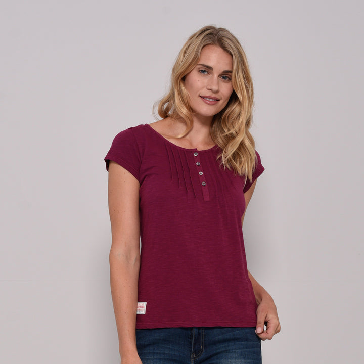 Garment Dyed Pleated Tee